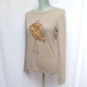 Antoni & Alison Sequin Gold Bird Sweater